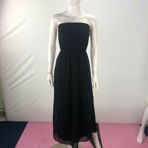 Forever 21 Small Black Tube Long Dress